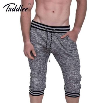 Taddlee Brand Men's Gym Fitness Running Sport Shorts Men Professional Bodybuilding Training Short Pants Gasp Big Size Bottom New