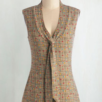 Mid-length Sleeveless Afternoon Wander Top in Confetti by Effie's Heart from ModCloth