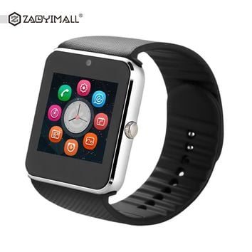 ZAOYIMALL GT08 Plus Bluetooth Smart Watch Support SIM TF Card Wearable Devices SmartWatch For Apple Android PK DZ09 GT08 Watch