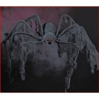 4 ft Large Huge Black Creepy Cloth Spider Halloween