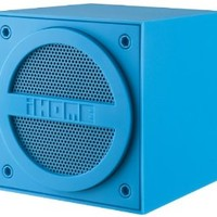 iHome IBT16LEX Bluetooth Rechargeable Mini Speaker Cube in Rubberized Finish - Blue