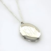 Large Oval Engraved Locket