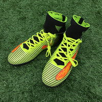 New High Ankle Turf Football Boots Men Indoor Soccer Cleats Shoes hombre Soccer Sneakers size 39-44