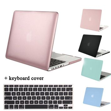 MOSISO for Macbook Pro 13 Retina 12 15 Matte Plastic Hard Cover Case for Mac book Pro Retina 13.3 15.4 inch Laptop Shell/Skin