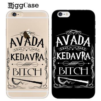 Harry Potter Avada Kedavra Bitch phone Case For Coque iPhone X 6 6S Plus 8 7Plus 5S SE Soft Back Cover For Fundas iPhone 6S Case