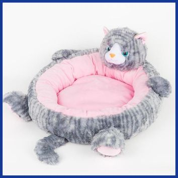 Cute Animal Shape Cartoon Pet Mats Dog Bed Sofa Puppy House Soft And Comfortable Teddy Kennel  Luxurious Sleeping Bag.
