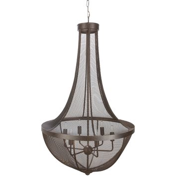 Surya Lombard Mesh Bell Style Pendant