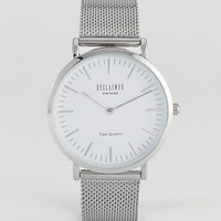 Reclaimed Vintage Inspired Mesh Watch In Silver 36mm Exclusive to ASOS at asos.com