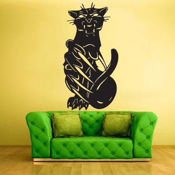 Wall Vinyl Decal Sticker Bedroom Decal Decal Cat Pantera  z433