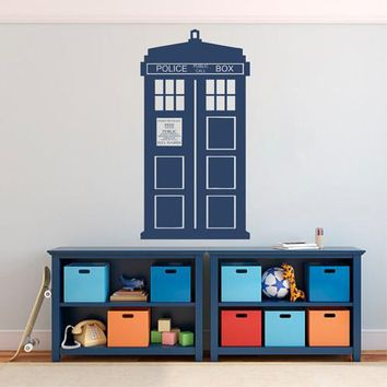 ik2243 Wall Decal Sticker Time Machine Spaceship tardis doctor who bedroom