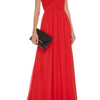 One-Shoulder Silk Gown | Moda Operandi