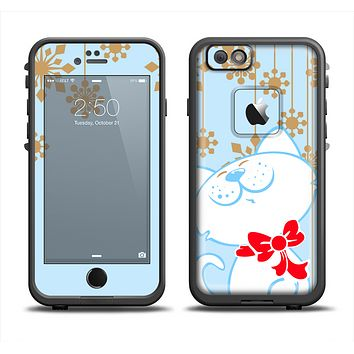 The Happy Winter Cartoon Cat Apple iPhone 6 LifeProof Fre Case Skin Set