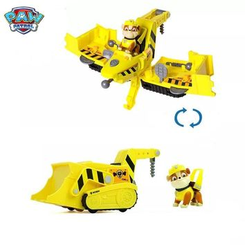 Original PAW Patrol Flip & Fly Vehicle RUBBLE Kids Can Have Fun With This 2-in-1 Vehicle Transforming From Bulldozer to a Jet!