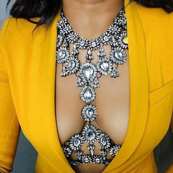 Jeweled Collar Necklace Body Chain