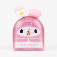 My Melody Plush Clock: Pink