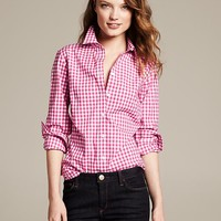 Fitted Non-Iron Gingham Shirt