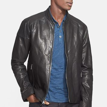 Men's John Varvatos Collection Leather Moto Jacket ,