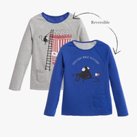 Billybandit Boys Long Sleeve Double Sided Tee with Monkey Graphics - V25049 - PRE-ORDER