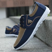 Fashion Mens Casual Shoes Mens Canvas Shoes for Men Shoes Flats Tiger Footwear Suede Zapatos De Hombre