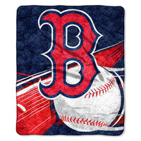 Boston Red Sox MLB Sherpa Throw (Big Stick Series) (50x60)