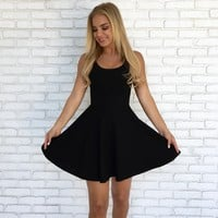 Quinn Skater Dress in Black