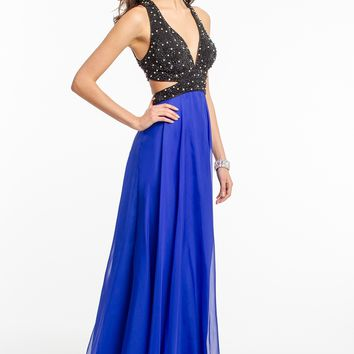 Beaded Two-Toned Cutout Dress from Camille La Vie and Group USA