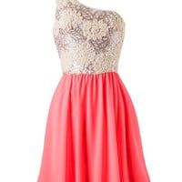 Subtle Sparkle Dress - Neon Coral