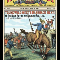 Wild West Weekly: Young Wild Wests Bareback Beat 20x30 poster