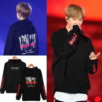 LUCKYFRIDAYF BTS Kpop JIMIN Concert The Same Style New Hoodies Fashion Men/Women Cap Hooded Sweatshirt Clothes Plus Size XXXXL