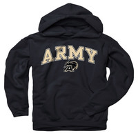 Army Black Knights Youth Black Perennial II Hooded Sweatshirt