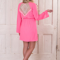A Bold Statement Dress - Neon Hot PInk