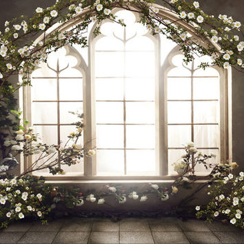 French Windows Indoor 5x7ft Wedding Children Baby Photo Studio Decor Backgrounds Computer Painted Vinyl Photography Backdrop