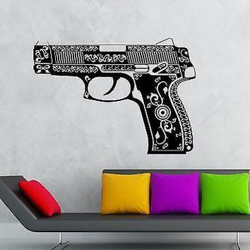Wall Stickers Vinyl Decal Beautiful Gun Weapon Mafia Unique Gift (ig1814)