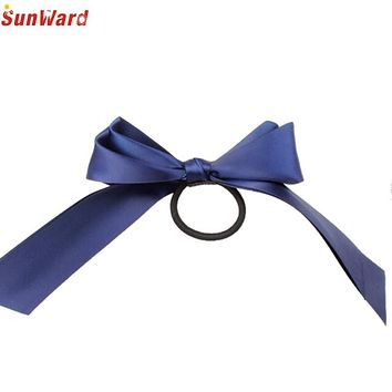 Trendy Style Hot Selling Women Multicolor Scrunchie Ponytail Holder Satin Ribbon Bow Hair Band Hair Rope 1PC_U00442