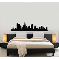 Vinyl Wall Decal Skyscraper Skyline City Silhouette Room Decoration Stickers Mural (g197)