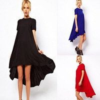 New Women Dress Summer O-neck Sleeveless Loose Fashion Casual Dress Long Maxi Dresses
