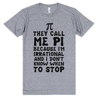 They Call me Pi-Unisex Athletic Grey T-Shirt