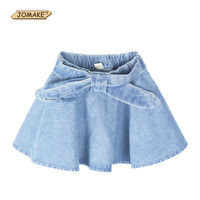 Girls Denim Skirts Summer Style Children Kids Clothes Casual Toddler Girl Bow Mini Party Jean Tutu Skirt Baby Christmas Clothing