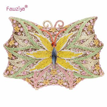 Fawziya Butterfly Bling Handbags For Women Evening Clutch Purse Bag