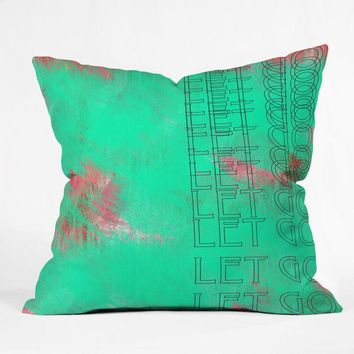 """Let Go"" Throw pillow"