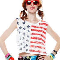 Papaya Clothing Online :: STARS AND STRIPES MUSCLE TOP