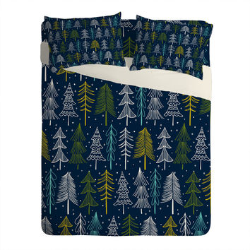 Heather Dutton Oh Christmas Tree Midnight Sheet Set Lightweight
