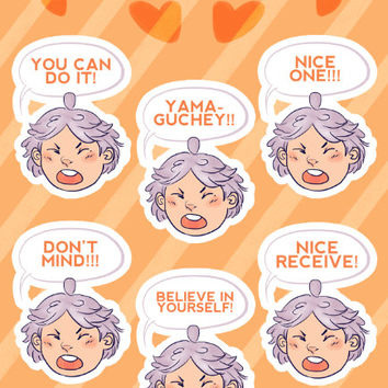 "Haikyuu!! - ""Motivational Suga"" Stickers"