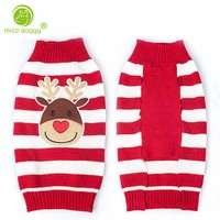 Fashion Winter Dog Clothes Christmas Sweater Pet Dog Clothes for Small Dogs Santa Claus Elk Pumpkin Costume Outwear Apparel