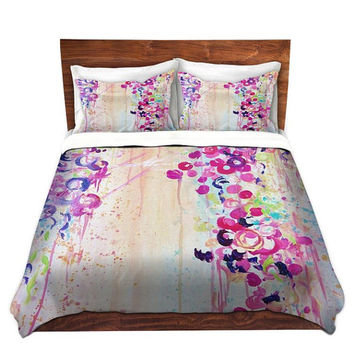 FEMININE Fine Art Duvet Covers, King Queen Twin, Dance of the Sakura Home Decor Bedding Children Adult, Floral Colorful Bedroom