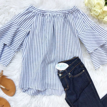 Double the Ruffle Off the Shoulder Top