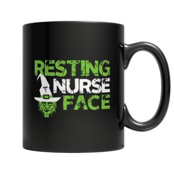 Resting Nurse Face - 11oz Black Mug