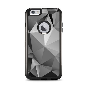The Vector Black & White Abstract Connect Pattern Apple iPhone 6 Plus Otterbox Commuter Case Skin Set