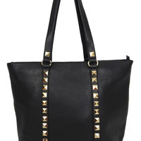 Studded Tote - Black