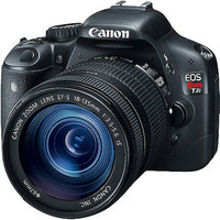 "Walmart: Canon EOS Rebel T2i Black 18MP DSLR Camera w/ 18-55mm IS Lens, 3"" LCD"
